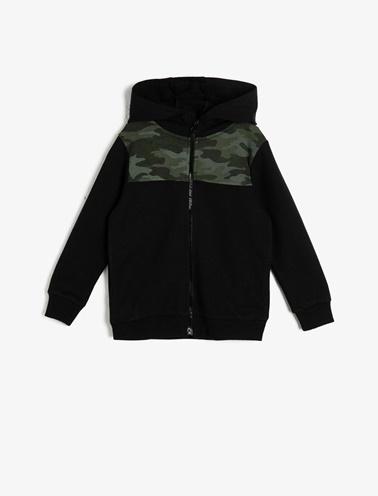 Koton Kids Kapüşonlu Sweatshirt Siyah